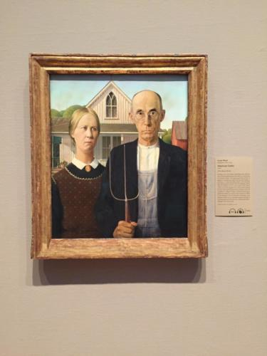 """American Gothic"" by Grant Wood (1930)"